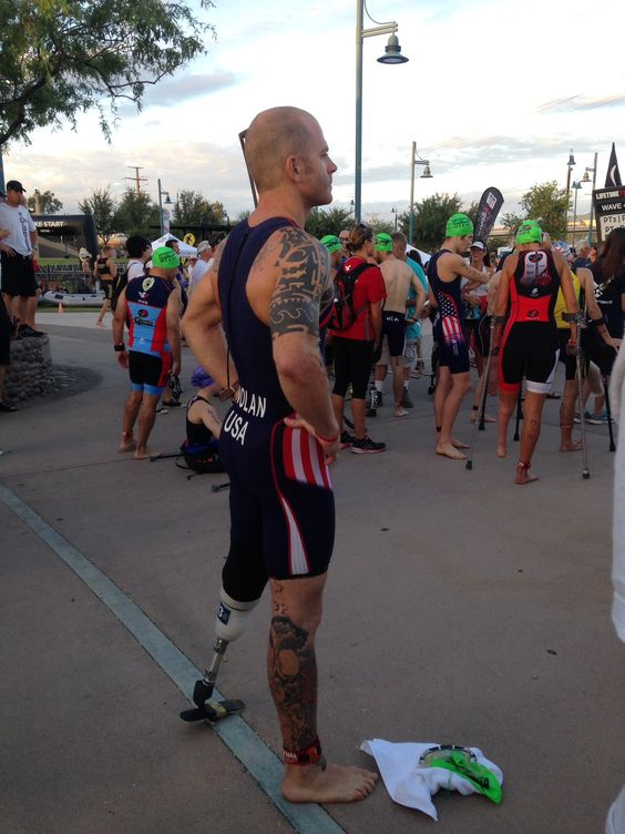 Courage and confidence #courageous #paratriathlete
