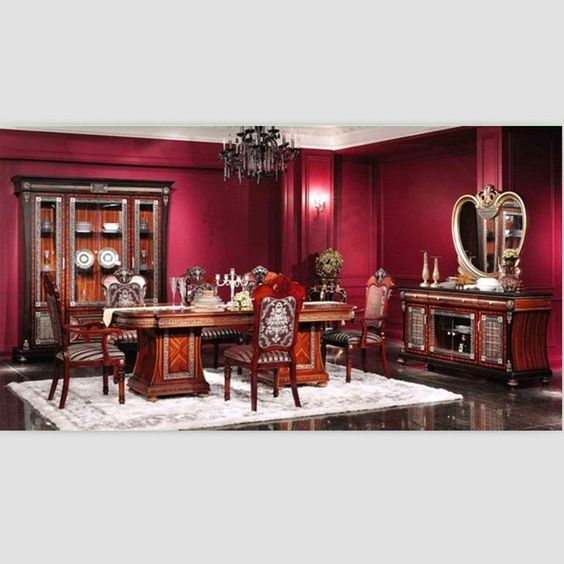 Victorian Style Dining Room Furniture  Middle East Style Cherry Captivating Cherry Wood Dining Room Set Design Decoration