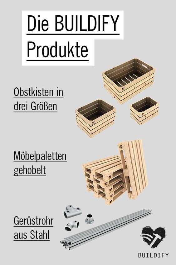 Buildify Die Marke Hornbach Mobel Selber Bauen Mobiler Kleiderstander Obstkisten