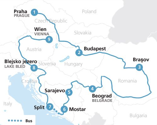 Discover the lesser known Eastern Europe by train with a Eurail – Train Travel In Europe Map