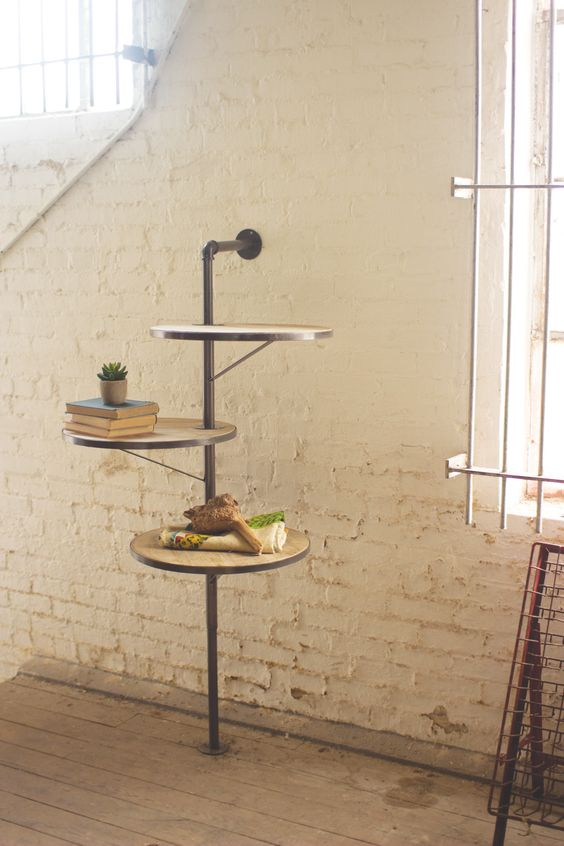 Three Tiered Round Swivel Shelving Unit Products