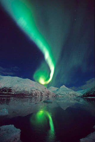 Aurora, National-Wald, Glacier, Chugach-Berge, Phänomen