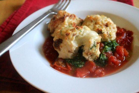 Chicken Recipe: Mozzarella-Stuffed Chicken Meatballs Recipe