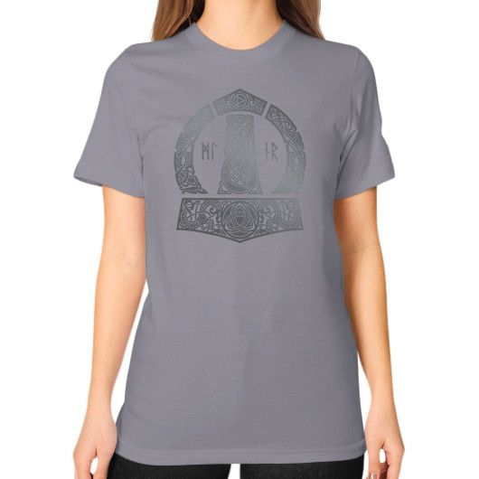 MJOLNIR Unisex T-Shirt (on woman)