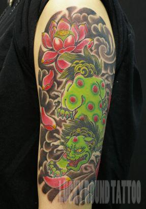 Lucky Round Tattoo studio, Osaka Japan / karajishi tattoo