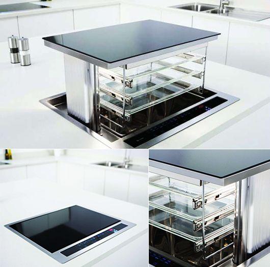 Platzsparende idee für küchen mit ausziehbarem ofen c5100