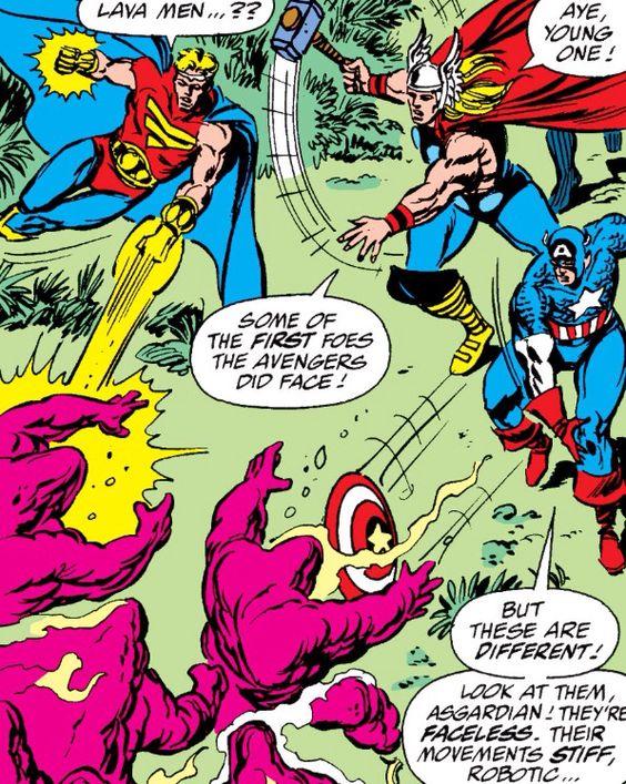 The Avengers vs Lava Men