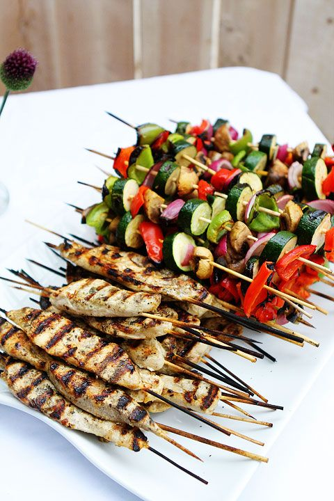 This looks delicious, love idea of taking a breast and cutting it in half the kabob style. Great for a backyard party.