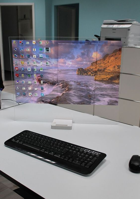 High-Tech, Transparent Computer Screen 'Disappears' When It Is Not In Use - DesignTAXI.com