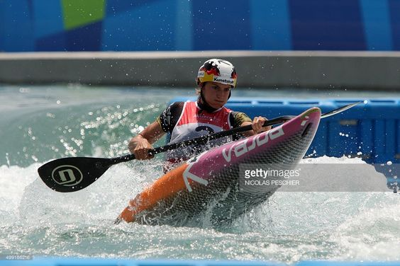 German Ricarda Funk competes in the Rio 2016 Olympic Games women's Kayak Canoeing test event at the Deodoro Radical Park in Rio de Janeiro, Brazil on November 29, 2015. (1024×684)