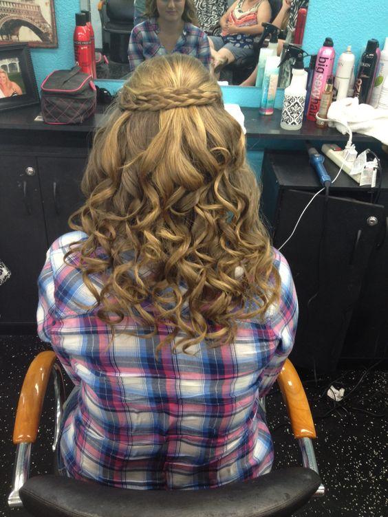 Cute curls with brads