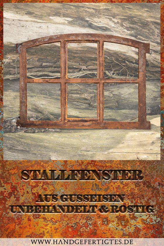 Fenster für antike Mauer Eisenfenster für Gartenmauer Stallfenster 57x42