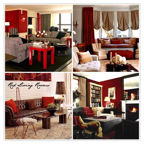 Cream brown and red living room ideas 1 wall decal for Cream and red living room designs