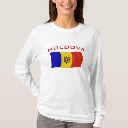 Moldova Flag 2 T Shirt Zazzle Com Shirts Casual Summer