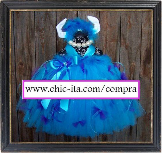 Vestido Tutu Sully Monsters Inc para niña
