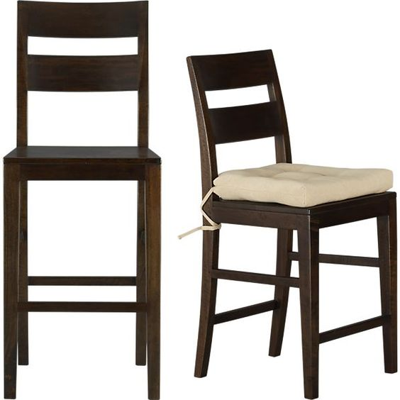 Basque Java Bar Stools And Cushion Room Set Dining