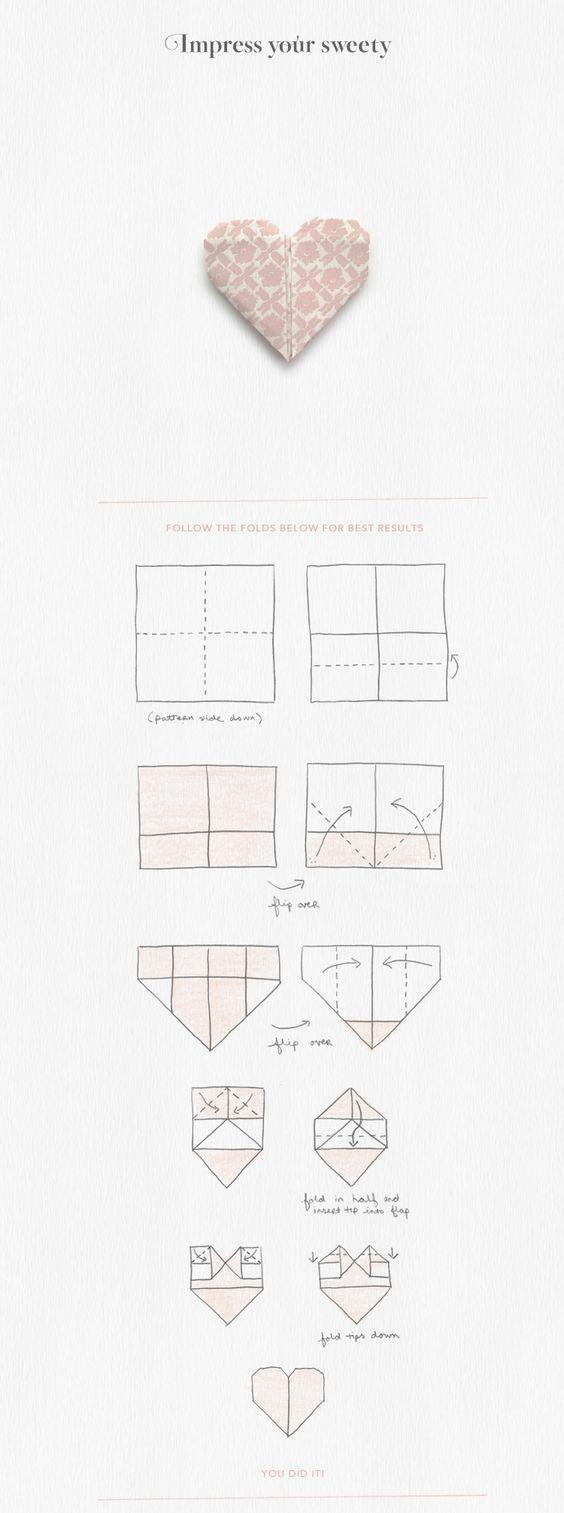 Herz Origami