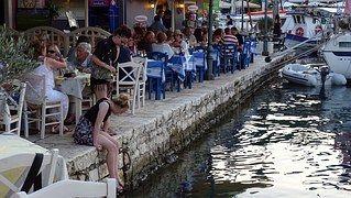 Griechenland, Kefalonia, Fiscardo, Hafen