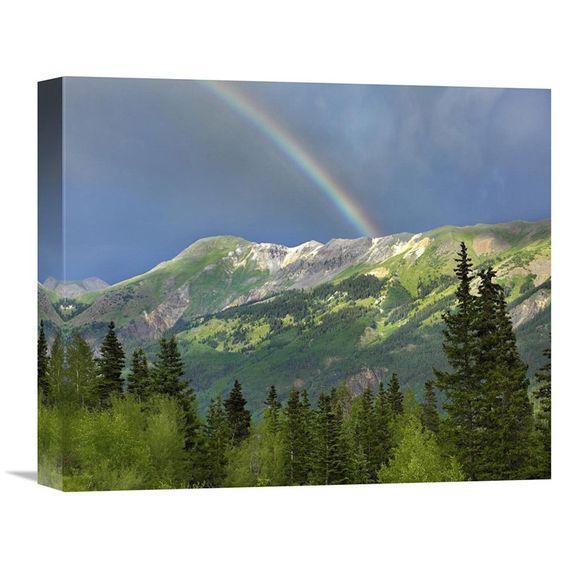 Global Gallery Rainbow Over Brown Mountain Colorado Wall Art - GCS-396074-36-142