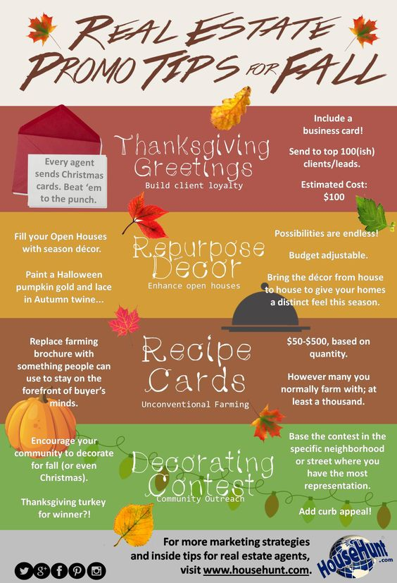 Real Estate Promo Tips for Fall: