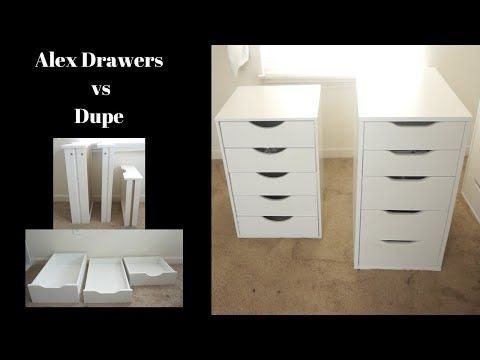 Ikea Alex Drawers Vs Dupe From Michaels I Have Both Very Detailed Comparison Youtube Ikea Alex Drawers Alex Drawer Ikea Alex