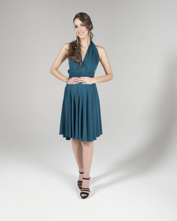 Butter by Nadia Signature Jersey Dress Cerulean | Maternity Dress ...