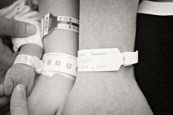 Best Hospital Picture Ever! Wish we had thought about this for Syd and Becca