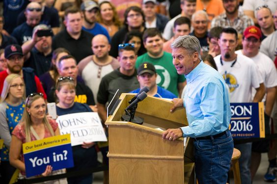 Libertarian Gary Johnson Polls at 10 Percent. Who Are His Supporters?