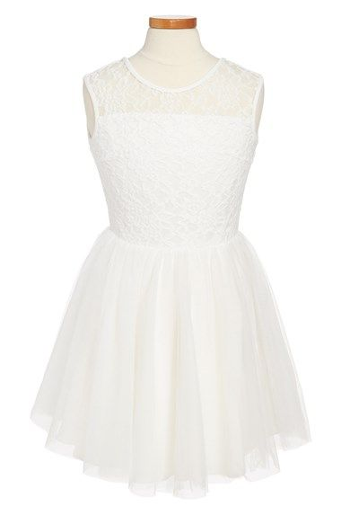 Miss Behave 'Tara' Lace & Tulle Dress (Big Girls) | Nordstrom