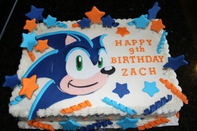 Sonic Cake By Dsateri On Cakecentral Com Cake Decorating