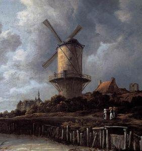 El Molino de viento en Wijk bij Duurstede (detalle) - (Jacob Isaakszoon Van Ruisdael (Ruysdael))