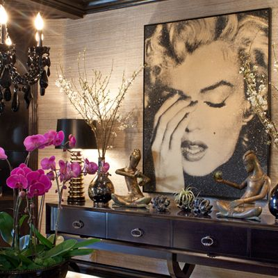 interior details - layering - art on walls - flowers - jeff andrews design