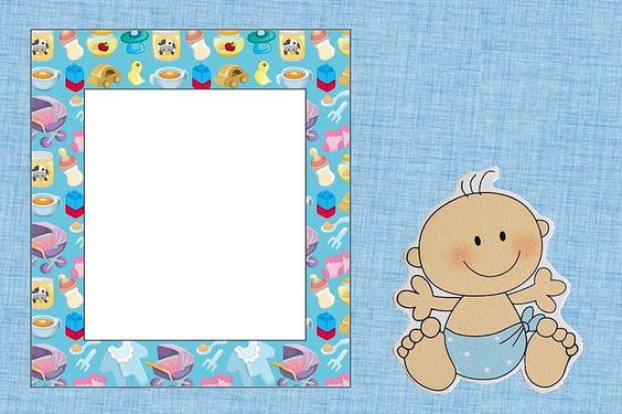 Marcos e imágenes de Baby Shower y Nacimiento varones   Imágenes para Peques
