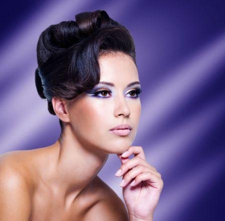 Purple Lady - Beauty -  #Face #Model #Wallpaper #ProvenAsTheBest