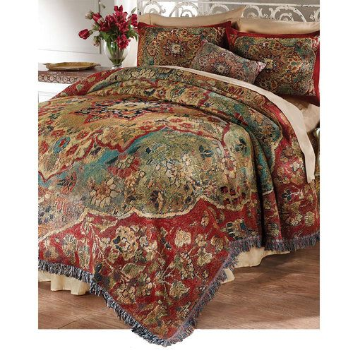 Grand bazaar tapestry bedding loschy branding pinterest poster beds the o 39 jays and - Bedspreads for four poster beds ...