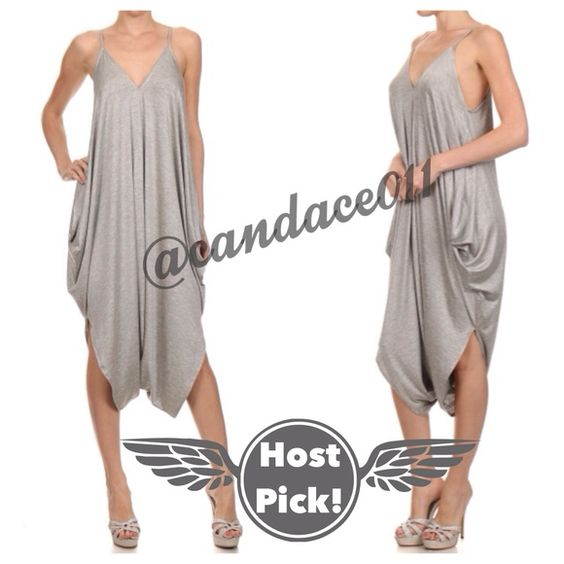Loose Fit Romper (Heather Grey) HP!!! ✳️Bundle to save 15%!✳️ Spaghetti straps.V-neck 65% Rayon, 35% Viscose Size Recommendations: S (4-6), M (8-10), L (12-14 Super comfy Made in the USA CC Boutique  Pants Jumpsuits & Rompers