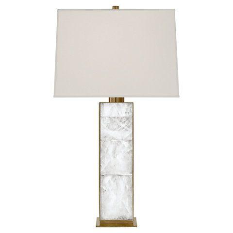 Ellis Table Lamp In Natural Brass And Quartz New Arrivals Lighting Table Lamp Lamp Table Lamp Lighting