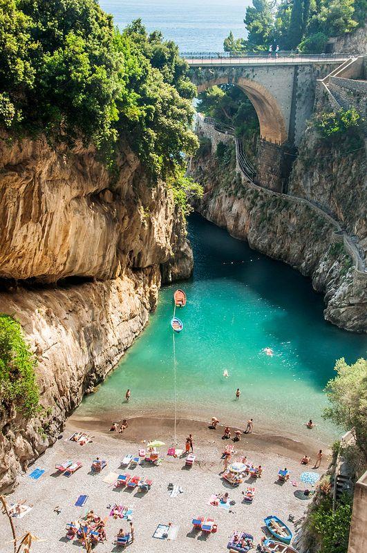 Furore Canyon, near Sorrento, Amalfi coast, Sth Italy