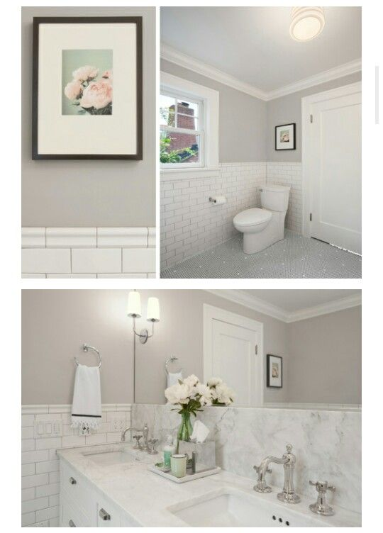 Sherwin williams repose gray repose gray and gray on - Bathroom paint colors with gray tile ...