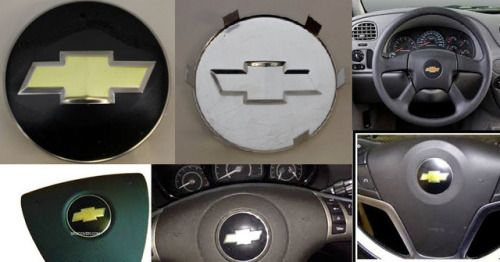 One Chevrolet Steering Wheel Airbag Emblem Logo Badge Chevy