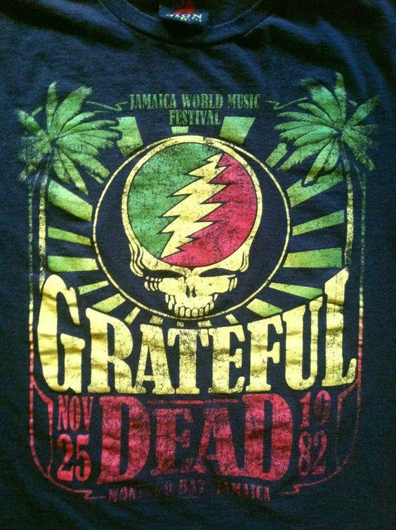 GROOVY RETRO! Grateful Dead Jamaica Music Festival / Black T-shirt / Size 2XL  $9.75 via DudleyzDudz, Bonanza