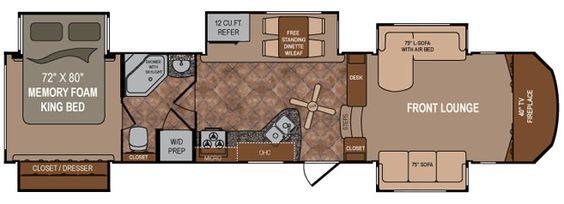 2013 Dutchmen Rv Infinity 3750fl Front Living Room Fifth