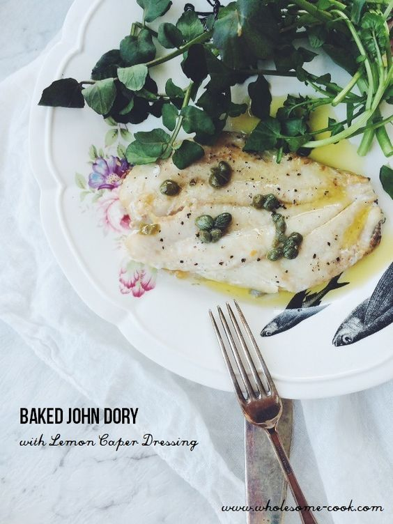 Baked John Dory with Lemon Caper Dressing + Quick Gluten-free Guide to Rome