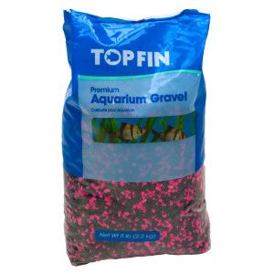 Top fin mini permaglo black pink aquarium gravel for Walmart fish gravel
