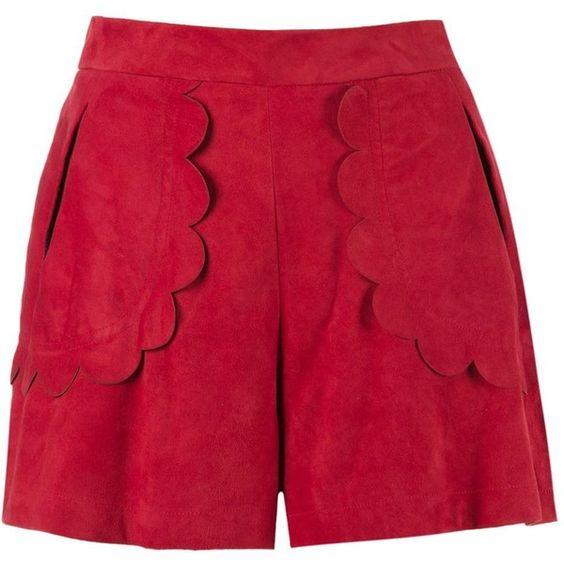 Andrea Bogosian scalloped shorts (773 CAD) ❤ liked on Polyvore ...