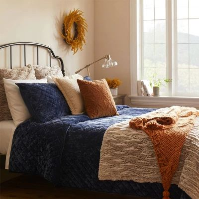 Navy Traditional Fall Bedding Collection - Threshold™ : Target