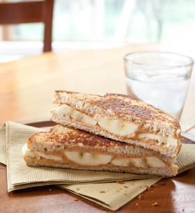 Peanut Butter and Banana Sandwich-Toasted!