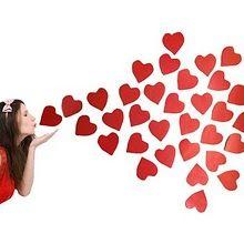 Beso de corazones