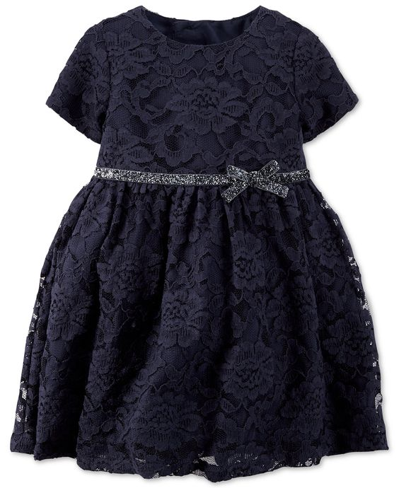 Carter's Baby Girls' Blue Lace Dress - Dresses - Kids & Baby - Macy's