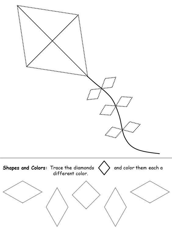 shapes recognition practice worksheet preschool letter d ideas pinterest shape diamond. Black Bedroom Furniture Sets. Home Design Ideas